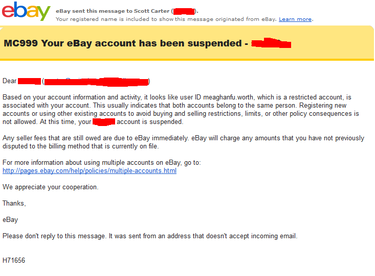 how to cancel my ebay account