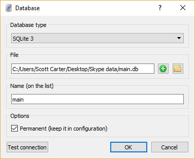 Step 4 - Opening The Skype Database