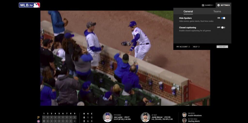 MLB Web Video Player After Hide Spoilers
